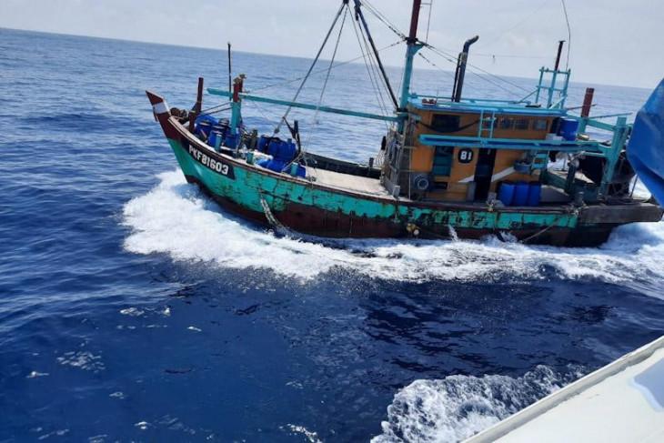 KKP tangkap empat nelayan Myanmar di Perairan Selat Malaka