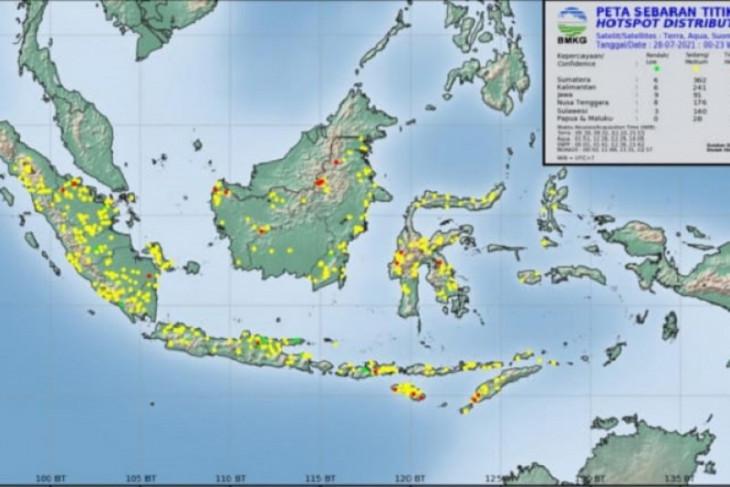 BMKG pantau  35 titik panas di Sumatera Utara