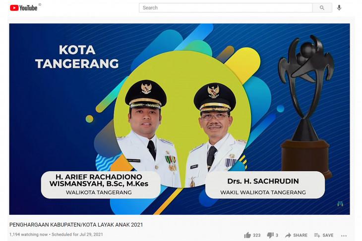 Pemkot Tangerang raih penghargaan Kota Layak Anak 2021, peringkat Nindya