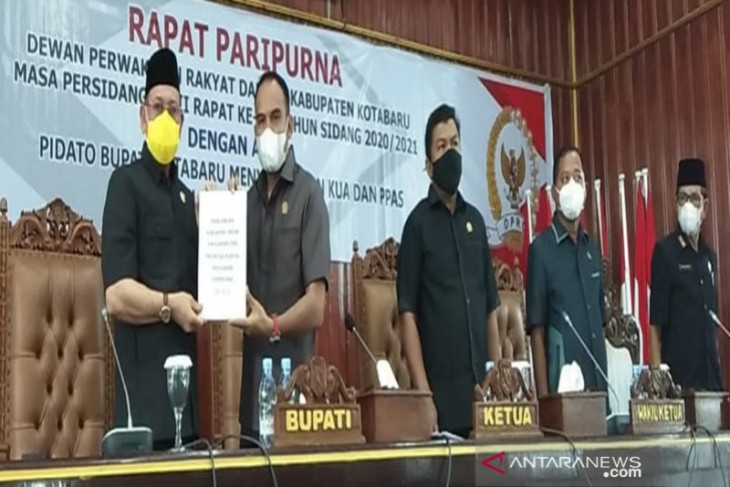 DPRD Kotabaru sampaikan tiga Pokran RPJMD 2021-2026