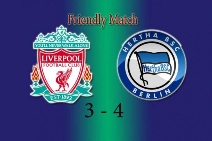 Liverpool kalah 3-4 lawan Hertha Berlin
