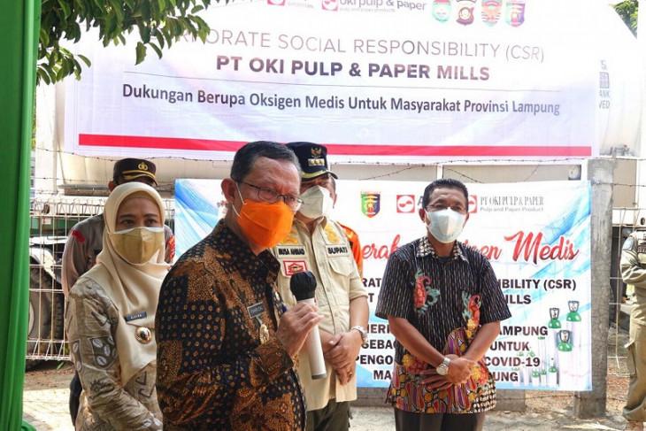 Pemprov Lampung terima bantuan oksigen cair dari Sinar Mas