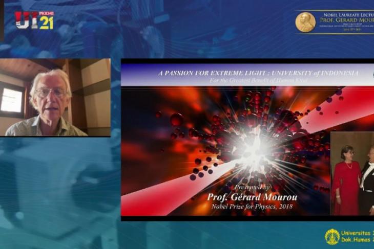Peraih Nobel bidang fisika pada 2018 beri kuliah umum mahasiswa baru UI 2021