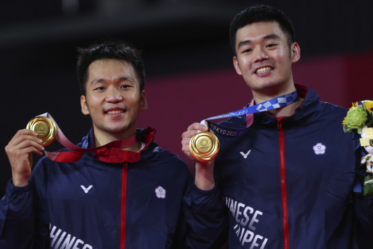Olimpiade Tokyo: Ganda Lee/Wang sabet emas pertama bulu tangkis bagi Taiwan