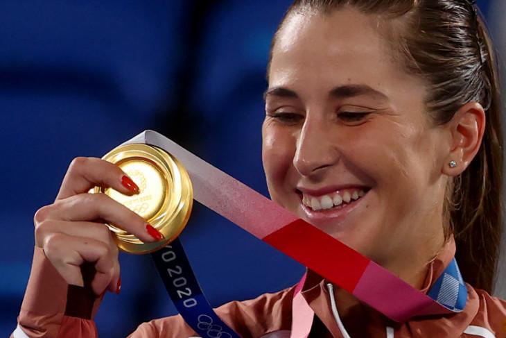 Belinda rebut emas tenis  putri Olimpiade Tokyo