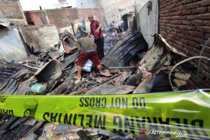 Tujuh rumah hangus terbakar, pilihan jiwa kehilangan tempat tinggal