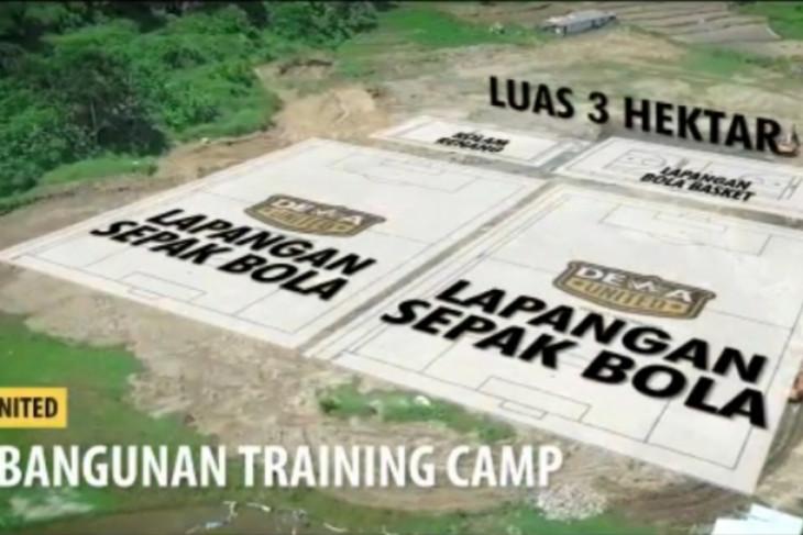 Dewa United bangun lapangan untuk latihan berstandar internasional di Bogor