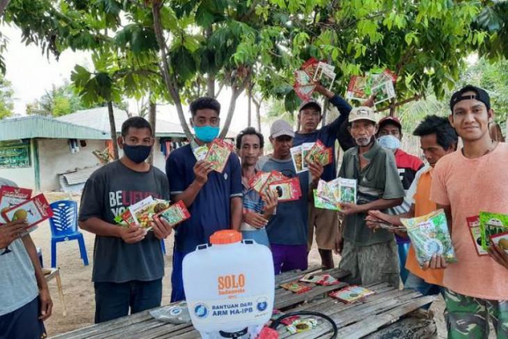Alumni IPB salurkan 1.400 paket benih sayuran pada 12 Kelompok Tani di Sumba Timur