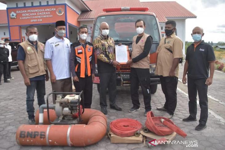 BPBD Bener Meriah terima bantuan truk penyuplai air dari BPBA