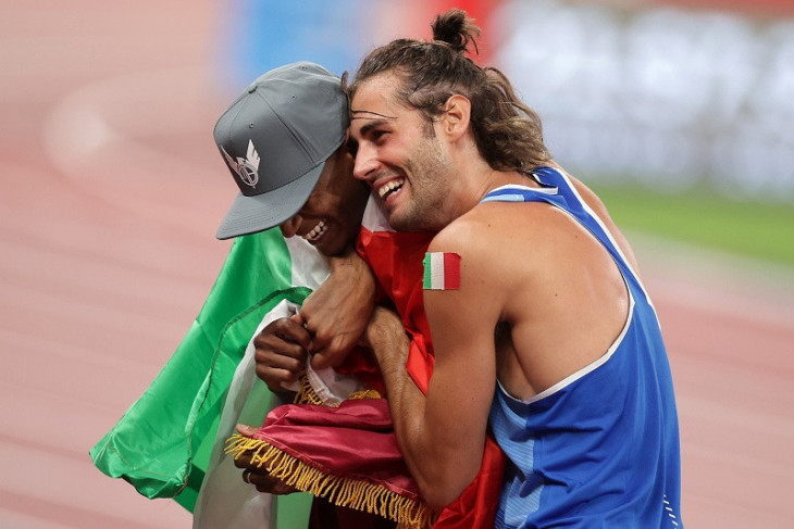 Olimpiade Tokyo: Mutaz Barshim dan Tamberi berbagi emas lompat tinggi