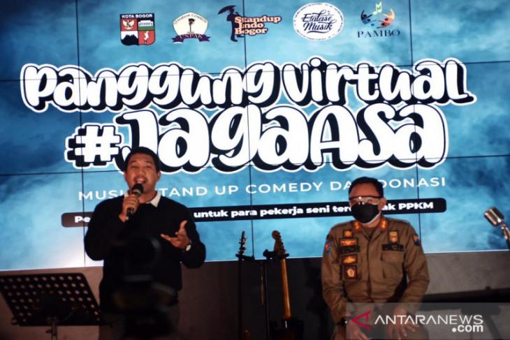 Pemkot Bogor bantu penggalangan dana secara virtual bagi seniman