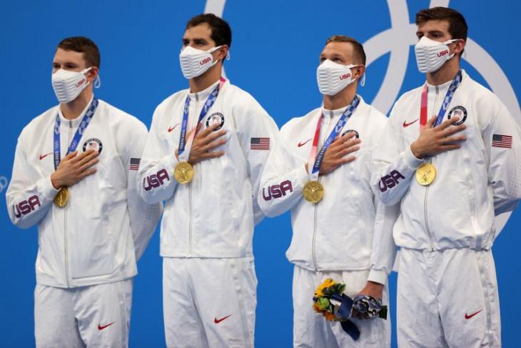 Olimpiade Tokyo, AS pecahkan rekor dunia menangi gaya ganti estafet putra