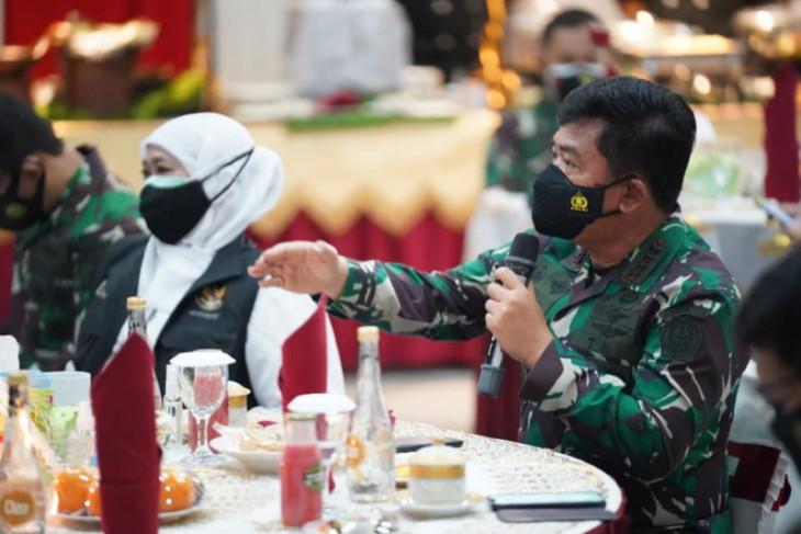 Kunjungan ke Madiun, Panglima TNI beri arahan penerapan aplikasi pelacak COVID-19
