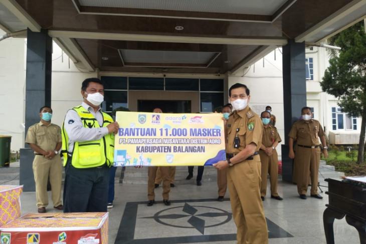 PT Pama donates 11,000 face masks, IDR100 m for Balangan