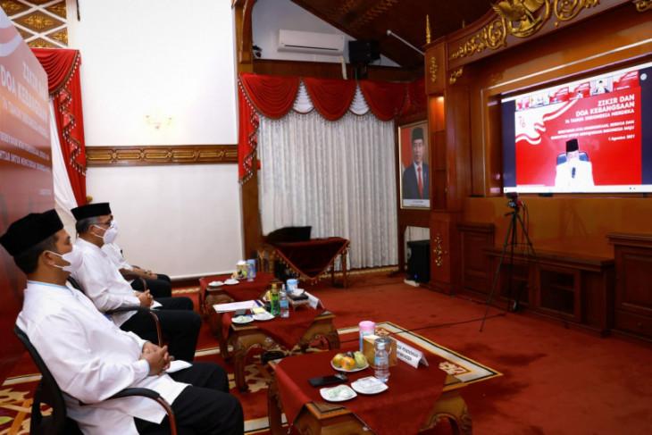 Gubernur Aceh Ikuti Zikir Bersama Presiden dan Wapres