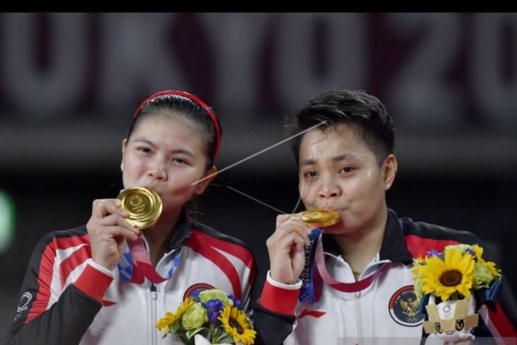 Greysia-Apriyani beraksi setelah raih medali emas