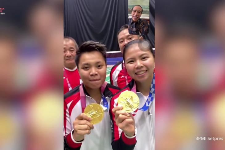 Olimpiade Tokyo, Presiden beri selamat Greysia-Apriyani melalui panggilan video