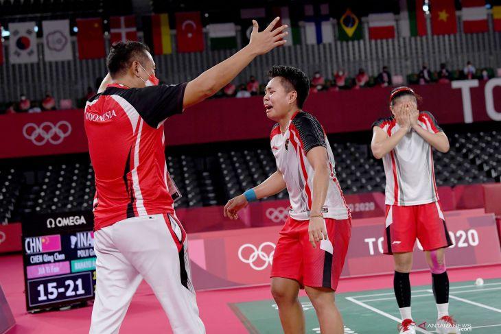 Olimpiade Tokyo, Greysia/Apriyani lengkapi kejayaan bulu tangkis Indonesia