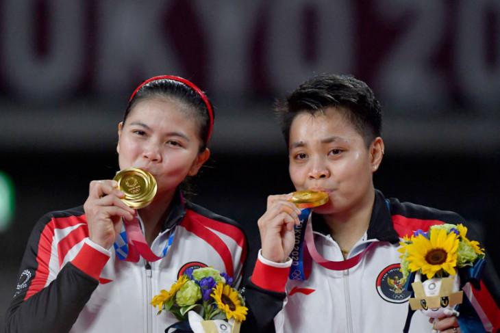 Olimpiade Tokyo, Menlu Retno beri selamat kepada Greysia/Apriyani