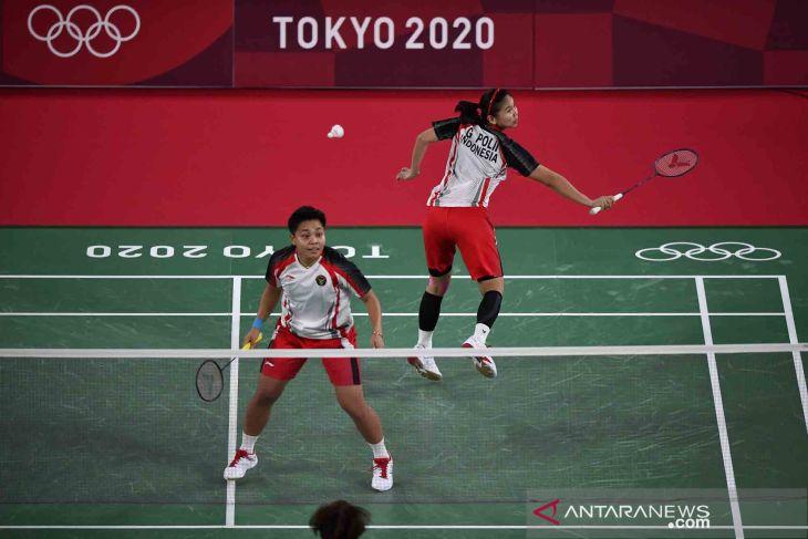 Greysia/Apriyani menyabet medali emas Olimpiade Tokyo