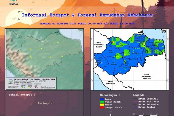 BMKG: Peta hotspot dan potensi kemudahan kebakaran