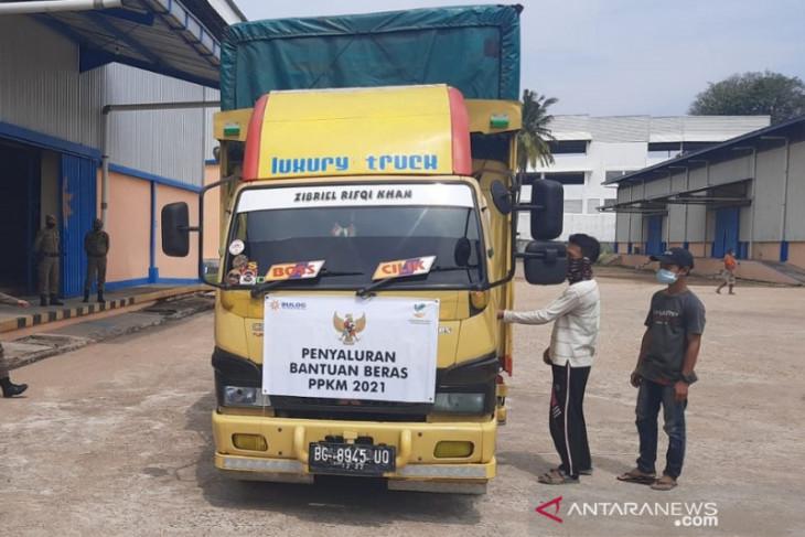 Bantuan beras PPKM di Jambi semua sudah terdistribusi