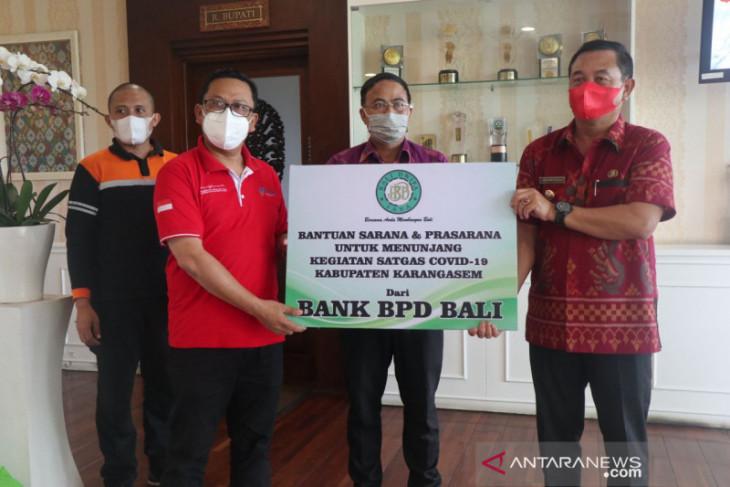 Bupati Karangasem Gede Dana terima CSR dari Bank BPD Bali