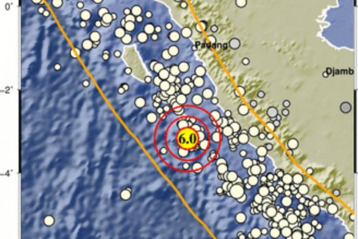 Gempa bermagnitudo 6,0 guncang  barat daya Mukomuko