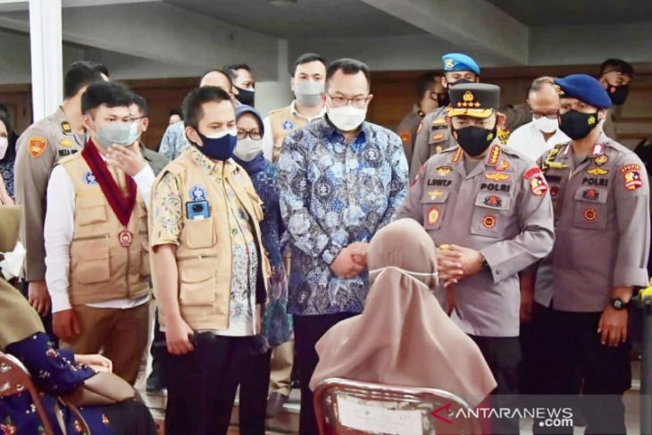 Kapolri minta Satgas Bogor akselerasi minimnya progres vaksinasi COVID-19