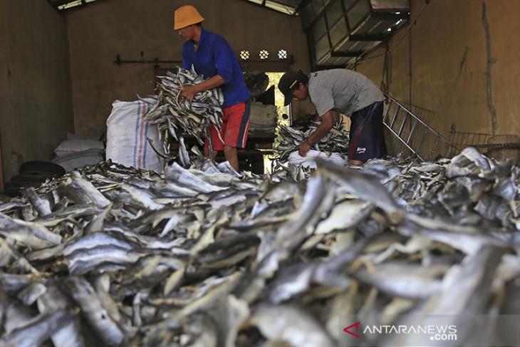 Industri kerupuk kulit ikan bertahan di masa pandemi