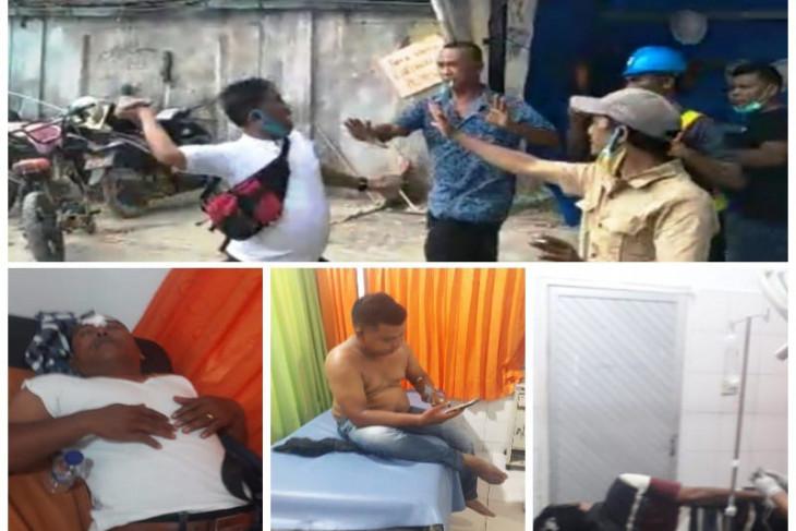 Wartawan SIB dan LSM dikeroyok belasan pekerja proyek pasar Sibolga Nauli