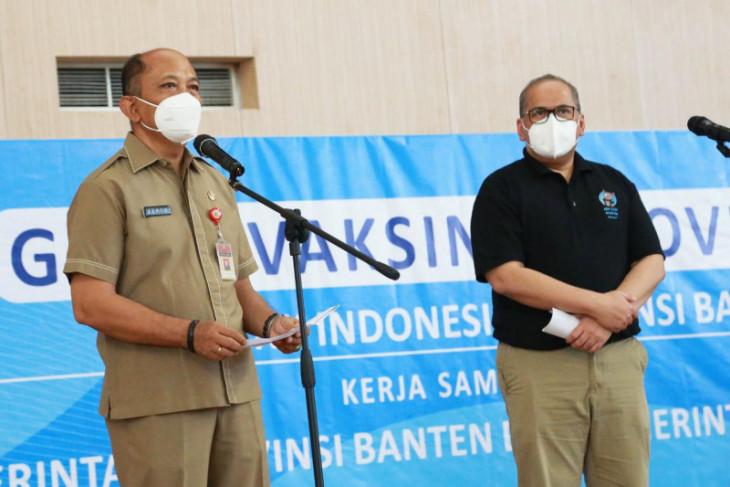 Sebanyak  1,7 juta warga Banten sudah vaksin COVID-19 dosis pertama