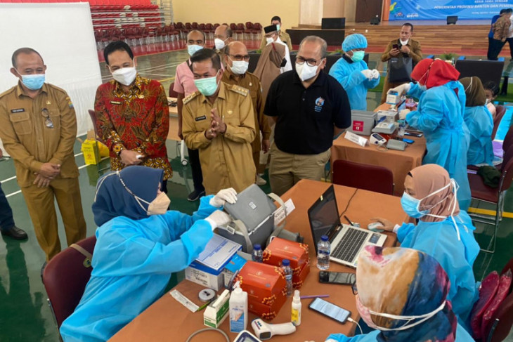 Perwakilan Bank Indonesia Banten gelar vaksinasi massal sasaran 650 orang