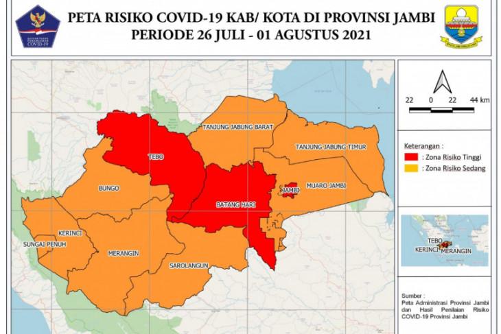Provinsi Jambi masuk zona merah COVID-19