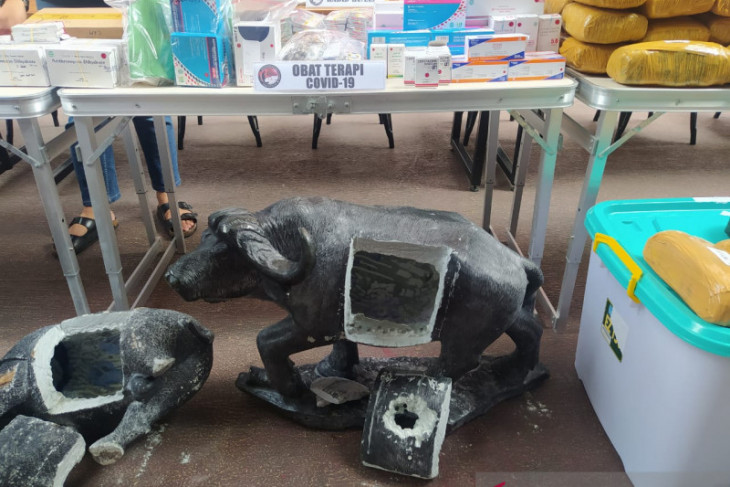 Polisi gagalkan penyelundupan 16 kg sabu dari Afrika di dalam patung begini kronologinya