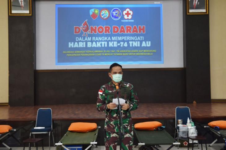 Lanud Supadio gelar kegiatan donor darah peringati Hari Bakti TNI-AU