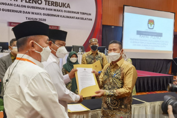 KPU Kalsel tetapkan BirinMU pasangan terpilih Pilkada 2020