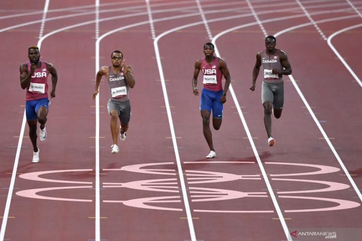 Dibayangi cedera Andre De Grasse raih emas nomor 200 meter