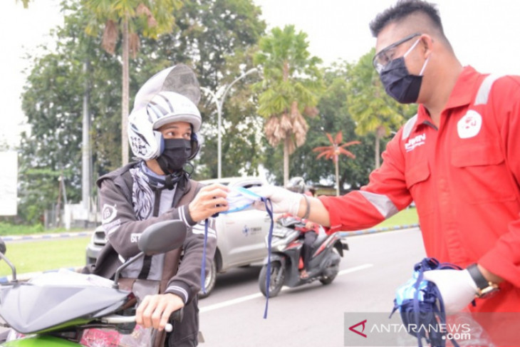 PT Timah bagikan 2.500 masker ke warga Kota Pangkalpinang