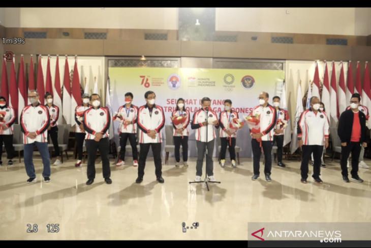 Rombongan terakhir tim Indonesia di Olimpiade tiba di Tanah Air