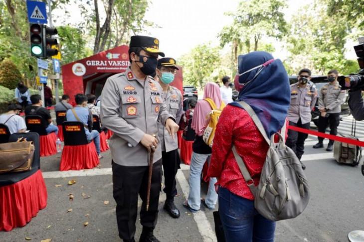 Kapolda: 7.538 orang telah divaksin di Taman Bungkul
