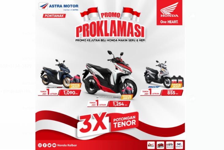 Sambut Hari Kemerdekaan Indonesia, Honda Kalbar beri promo PROKLAMASI