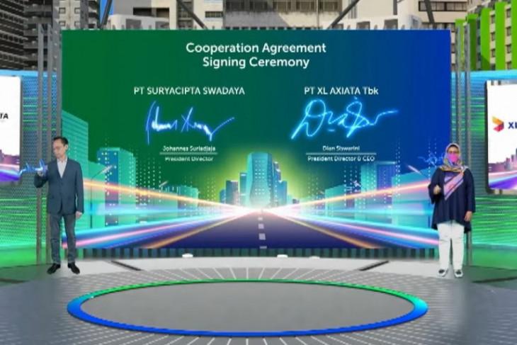Kerjasama XL Axiata--Suryacipta Swadaya sediakan jaringan fiber optik
