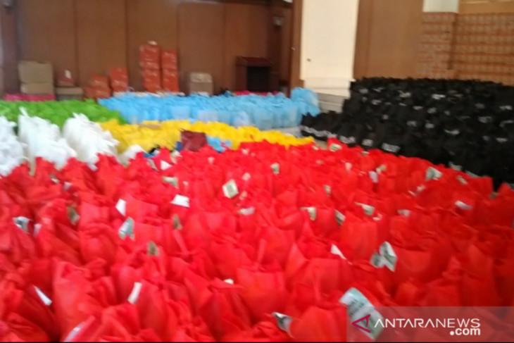 Posko Logistik Darurat Kota Bogor telah menerima bantuan 16.000 paket sembako