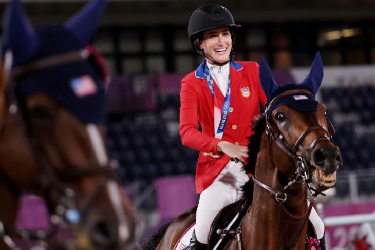 Putri musisi Bruce Springsteen sabet medali perak berkuda Tokyo2020
