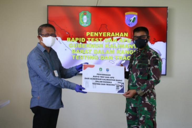 Pangdam XII/Tpr terima bantuan tes cepat dan APD dari Gubernur Kalbar
