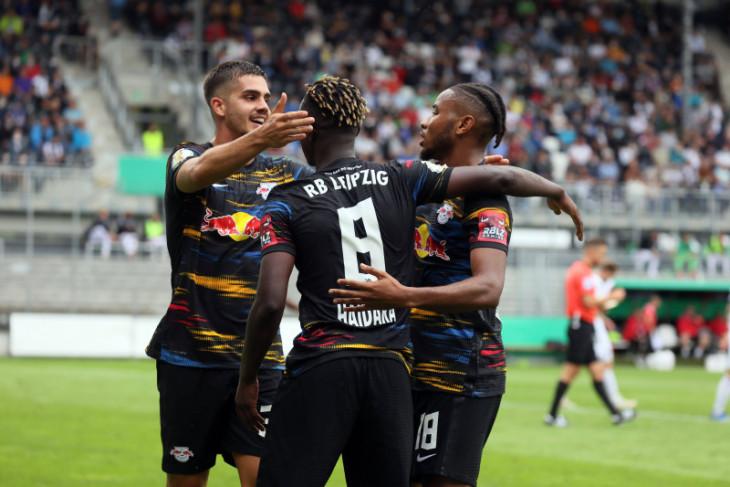 Pelatih baru Leipzig Jesse Marsch catat kemenangan pertama pada Piala Jerman