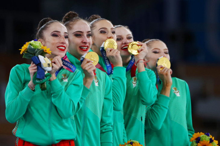 Olimpiade Tokyo, Bulgaria runtuhkan dominasi Rusia dalam senam ritmik beregu