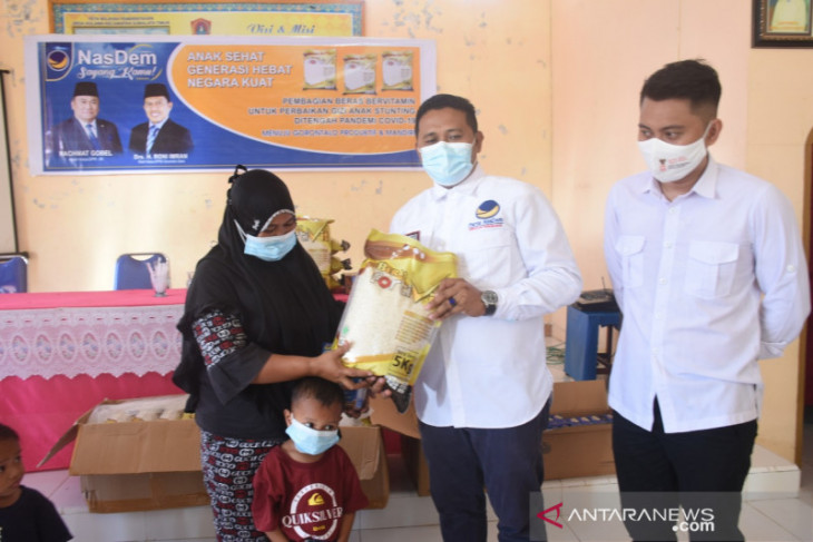 DPRD Gorontalo Utara salurkan beras Fortivit cegah stunting