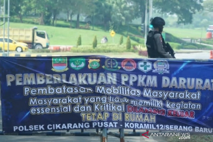 Polisi buka seluruh titik penyekatan di Bekasi